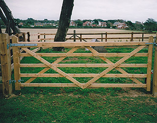 Timber Field Gates